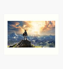 The Legend of Zelda: Breath of the Wild Link Art Print