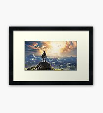 The Legend of Zelda: Breath of the Wild Link Framed Print