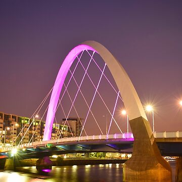 The River Clyde, Glasgow, Scotland. The 'Squinty' Bridge by gregs-celeb-art