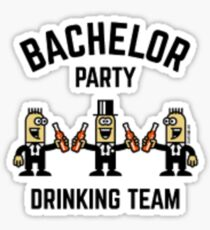 Bachelor Party Drinking Team Sticker