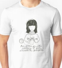 Knitting is Sitting for Creative People T-Shirt