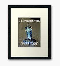 Angry Wizard Framed Print