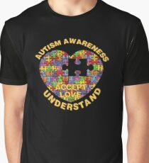 Autism Awareness Puzzle Heart Graphic T-Shirt