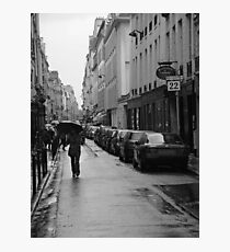 Woman in the Rain, Rue Jacob Photographic Print
