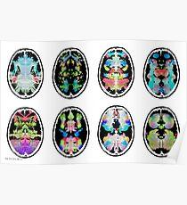 Rorschach inkblot fMRI Scan 2b inverted Poster