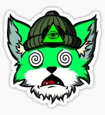 drunk fox Sticker