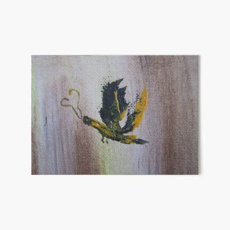 Yellow butterfly Art Board Print