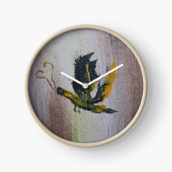 Yellow butterfly Clock