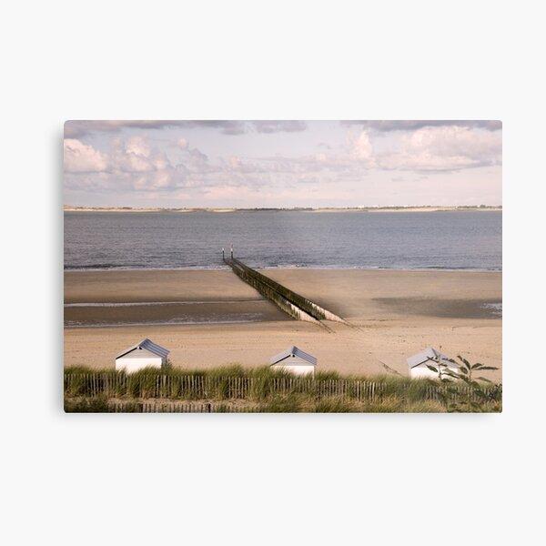 Breakwaters on a beach Metal Print