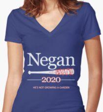 Negan 2020 (The Walking Dead) Women's Fitted V-Neck T-Shirt