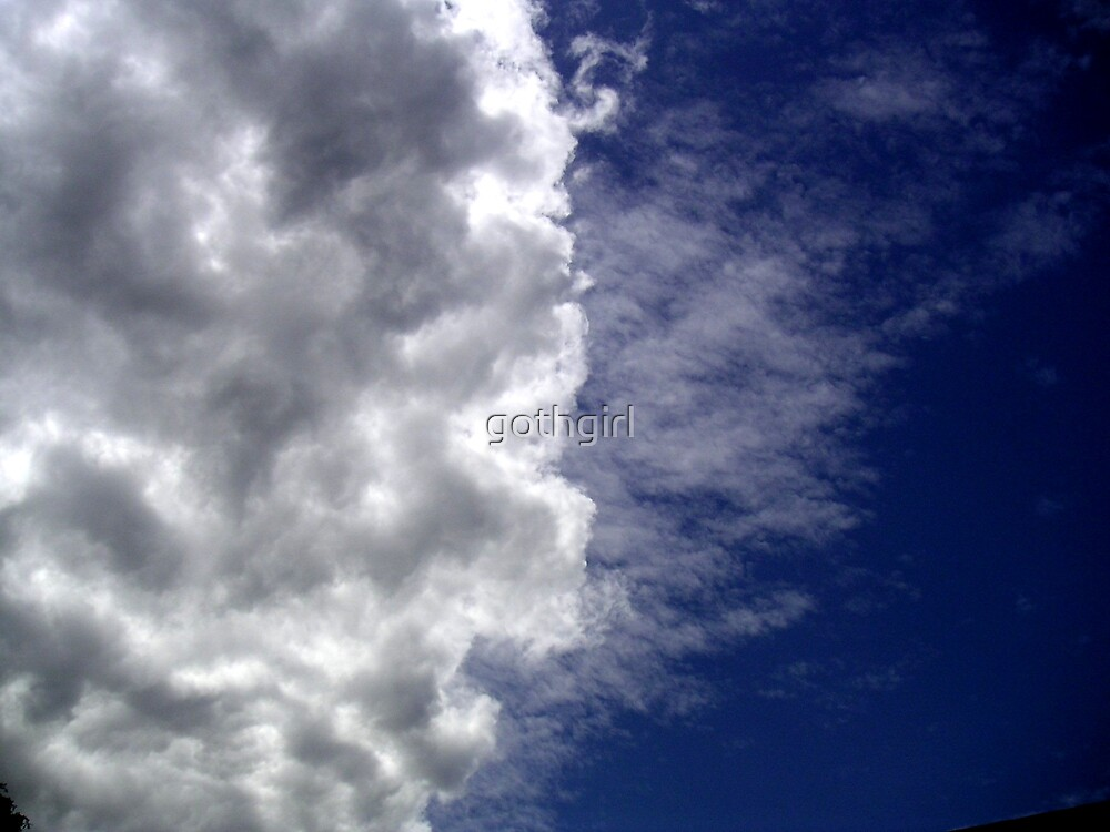 Ive looked at clouds from both sides now by gothgirl