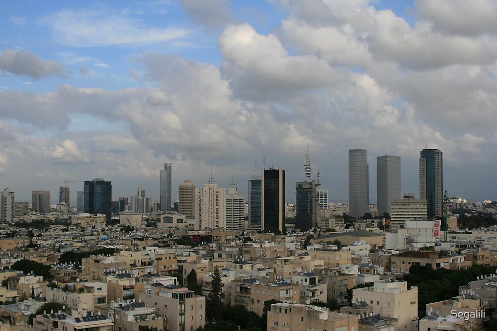 Tel-Aviv towers by Segalili