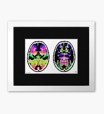 Rorschach inkblot fMRI Scan 2g Inverted Framed Print
