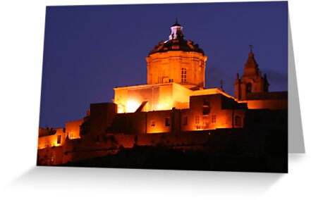 Mdina by night by Christian  Zammit