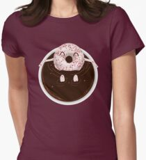 Donut Coffee Bath  Womens Fitted T-Shirt