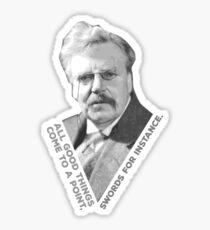 Chesterton's Point Sticker