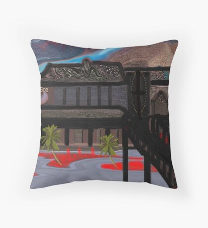 Sierra Hotel and Spa Throw Pillow