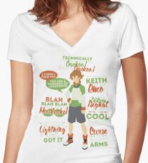 Pidge Quotes Women's Fitted V-Neck T-Shirt