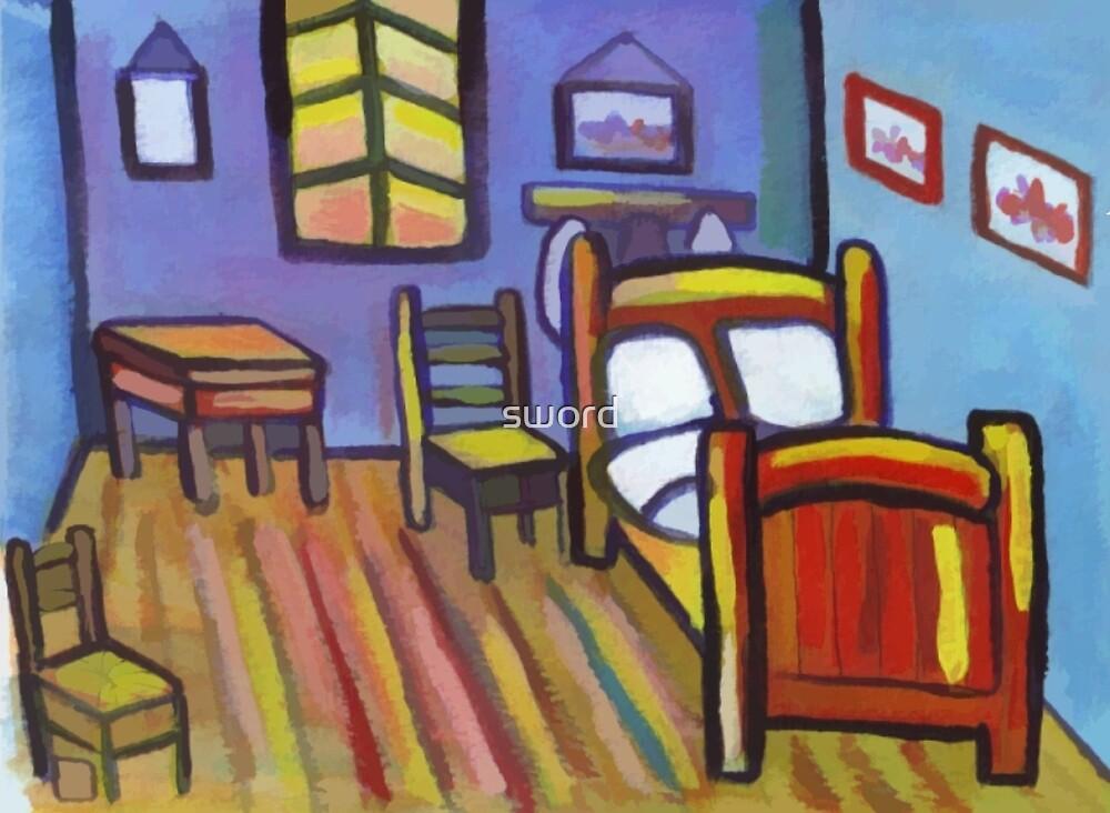 My version of Van Goghs bedroom  by sword
