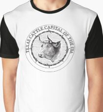 Texas-Cattle Capital of the USA Graphic T-Shirt