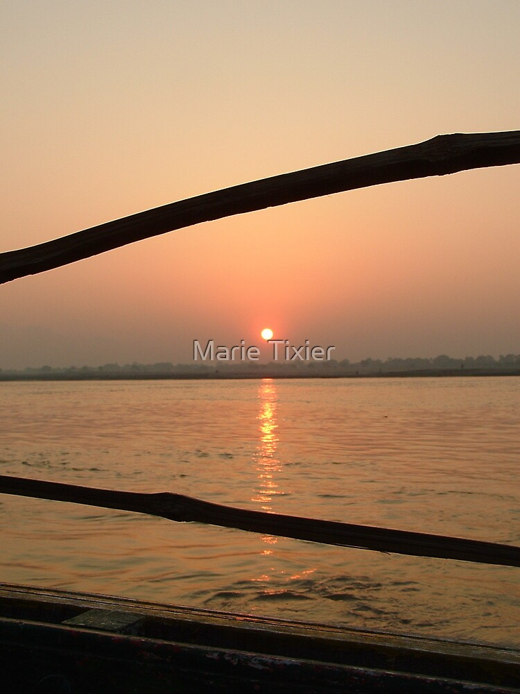 sunrise on Varanasi by Marie Tixier