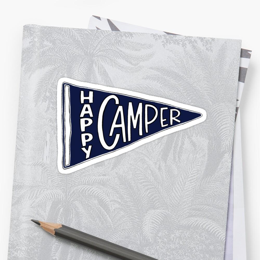 Glücklicher Camper Sticker