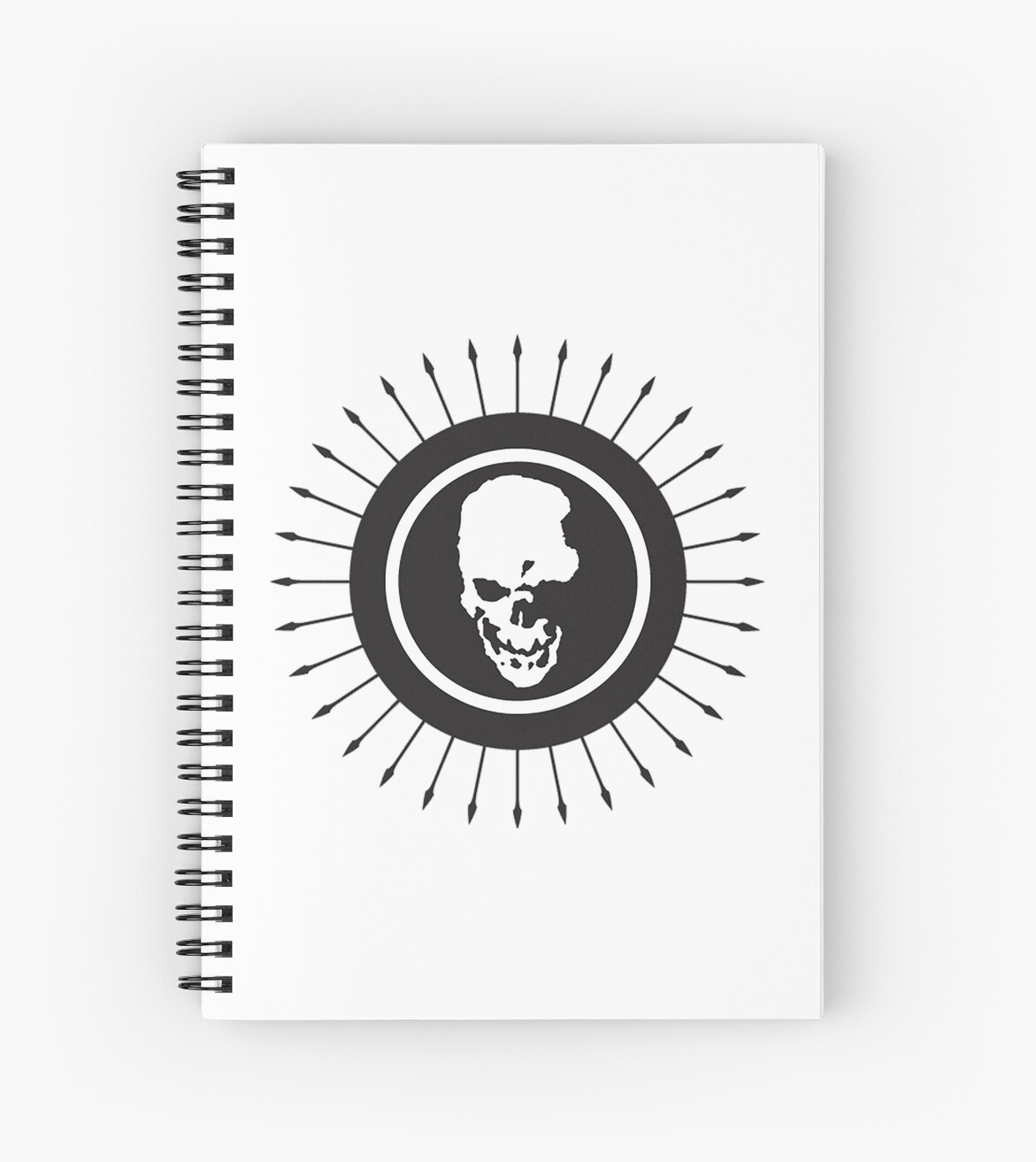 death note skull logo spiral notebooks by unorthodoxxx redbubble