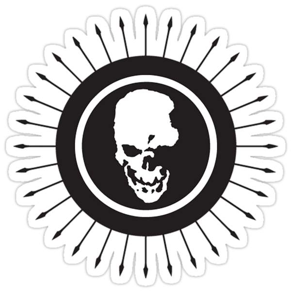 death note skull logo stickers by unorthodoxxx redbubble