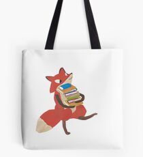 Fox Loves the Library Tote Bag