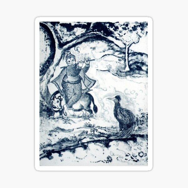 LORD KRISHNA AND FRIENDS by REKHA IYERN FE RECORDS CANADA Sticker