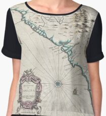 Antique Map - Speed's Carolina (1676) Chiffon Top
