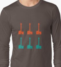 Coloured Guitars Long Sleeve T-Shirt