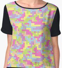 Pixel Barf Chiffon Top