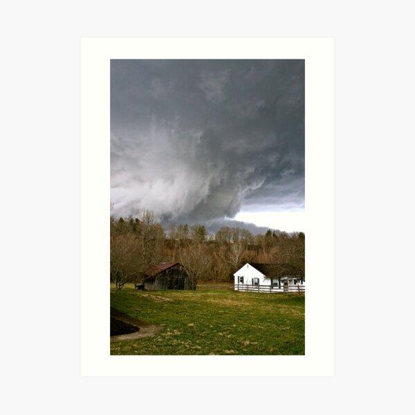 West Liberty, KY Tornado Art Print