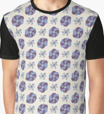 Color hand drawn doodle flowers Graphic T-Shirt