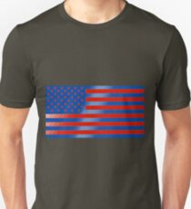 Surrealistic blue and red American flag Unisex T-Shirt