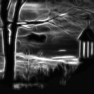 Black And White Tree And Steeple by gothicolors