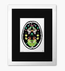 Rorschach inkblot fMRI Scan 1l Inverted Framed Print