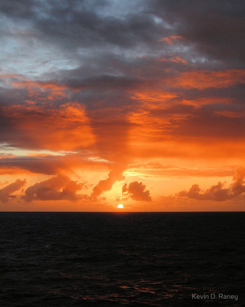 Caribbean Sunset #4 by Kevin D. Raney