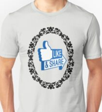 Black Mirror - Facebook Like and Share T-Shirt