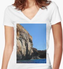Malta and Gozo Island, Mediterranean Sea photography 11 Women's Fitted V-Neck T-Shirt