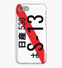 Nissan S13 Japanese JDM Plate iPhone Case/Skin