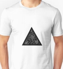 Triangle Roses Black and White T-Shirt