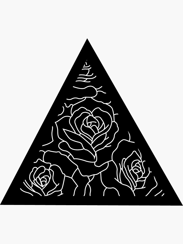 Triangle Roses Black and White by kryder15