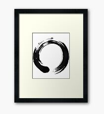 Zen Enso Circle Framed Print