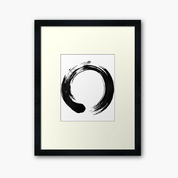 Zen Enso Circle Framed Art Print