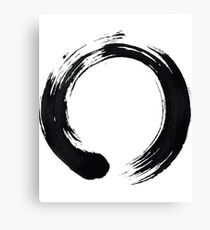 Zen Enso Circle Canvas Print