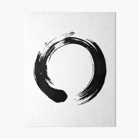 Zen Enso Circle Art Board Print