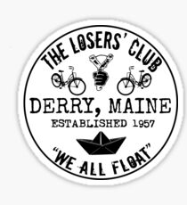 The Losers' Club Emblem - Black Text Sticker