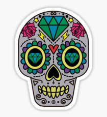 Dimond Skull Sticker